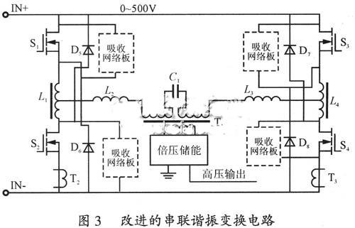 其整流器输出无需加滤波电感,可以降低高压整流硅堆的耐压要求;谐振