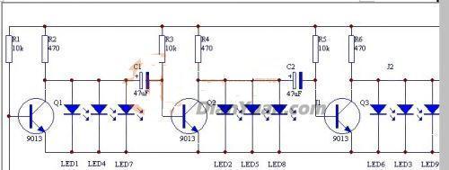 LED流水灯电路图