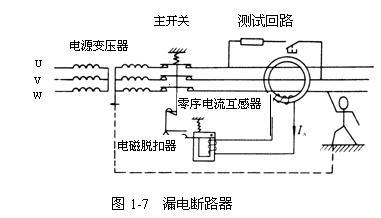 漏电断路器原理,漏电断路器的工作原理