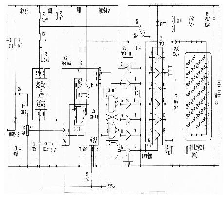 采用了分立元件组成,重点是pwm比较器和倍压脉冲输出电路.