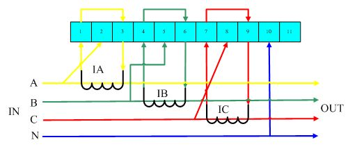 三相四线外接互感器电能表接线图-电能表接线图图片