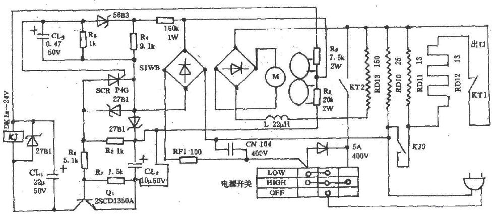 电吹风电路图_电吹风电路图-基础知识-电子元件技术网电子百科