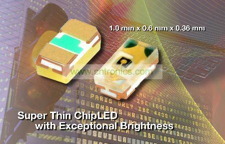新VLMx1500-GS08系列采用小型表面贴装0402 ChipLED封装
