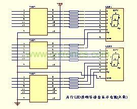 并行LED数码管静态显示电路(共阴