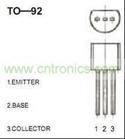 8050三极管(TO-92封装)管脚图