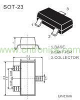 8050三极管(SOT-23封装)管脚图
