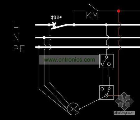 单联双控开关实际上就是两个单刀双掷开关串联起来后再接入电路.