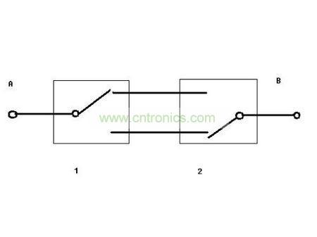 双联双控开关接线图1