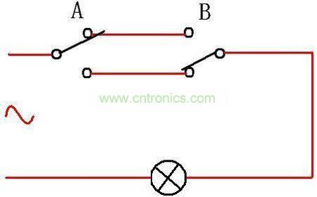 双联双控开关接线图2
