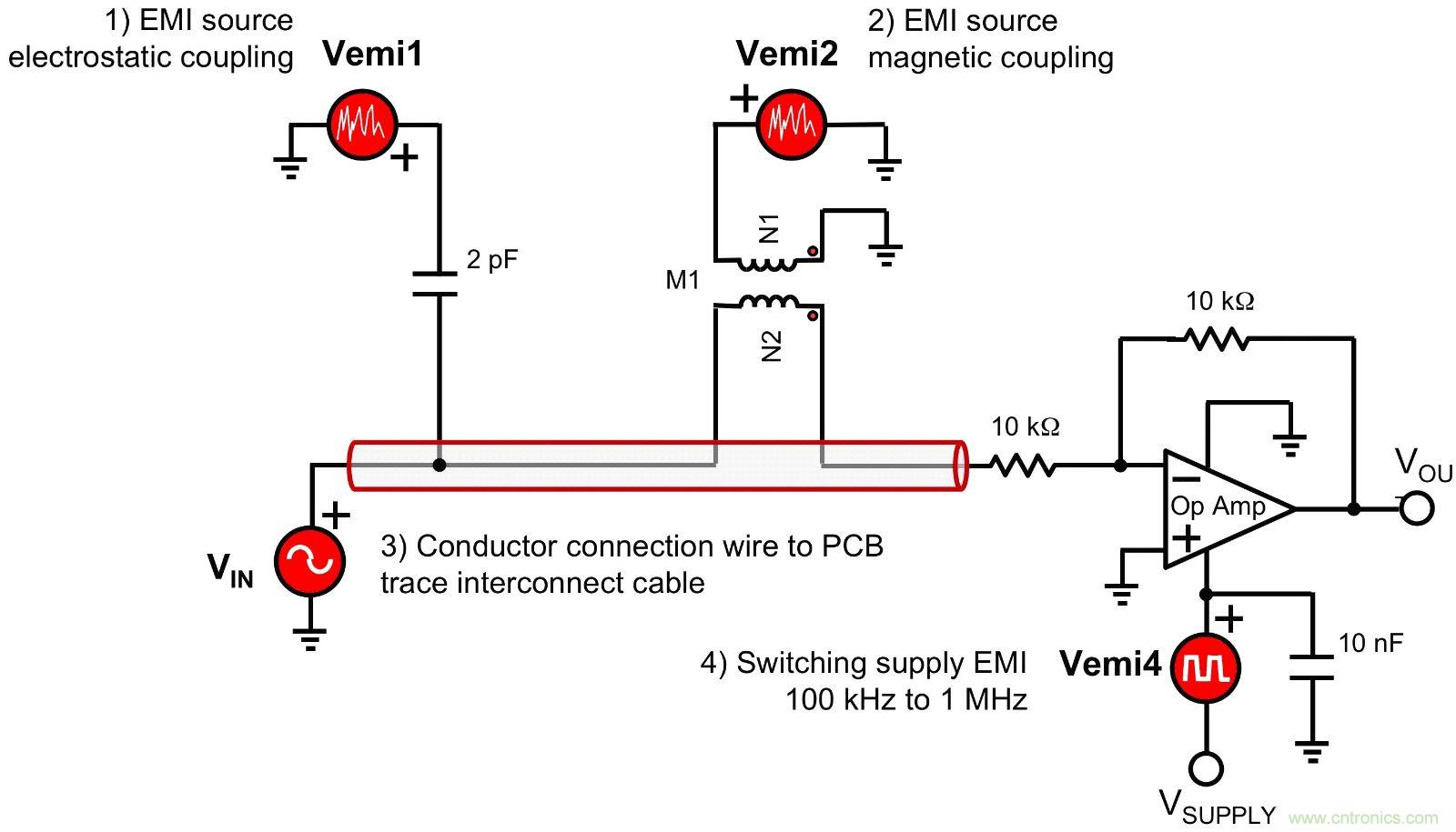 驱动噪声对开关电源传导emi的影响