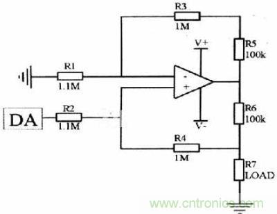 差分放大型微安级恒流源电路