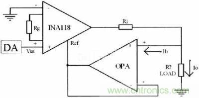 运用仪表放大器构建的微安级恒流源电路