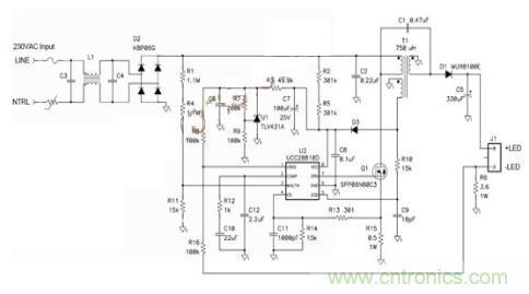 转移模式 SEPIC 发挥了简单 LED 驱动器的作用