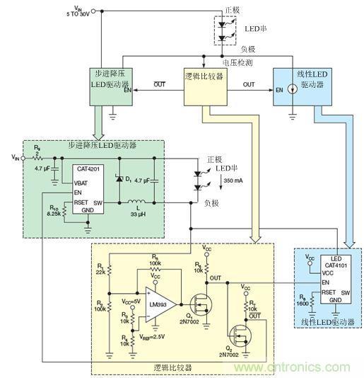 lm393比较器监测led串的低侧电压