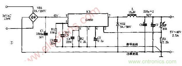 dc-dc变换的开关电源电路图