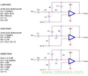 运放电路设计中无源元件的选择