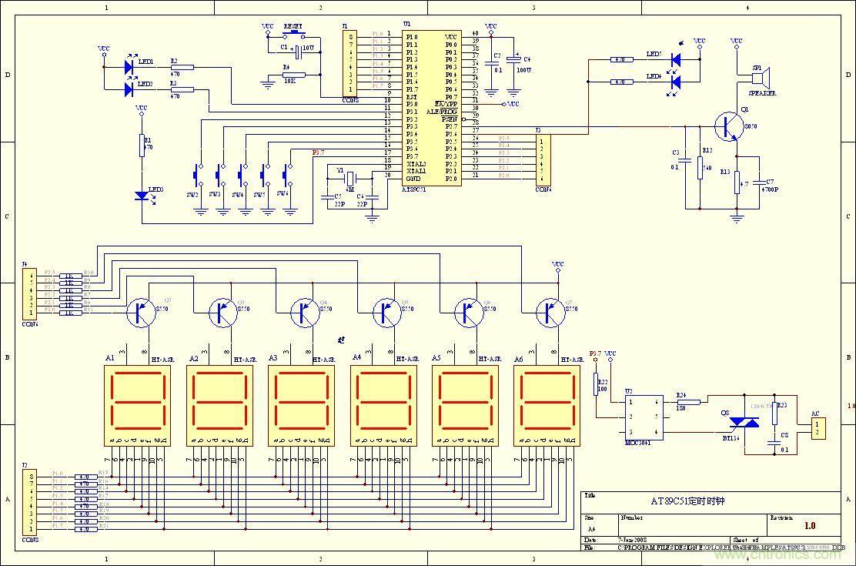 数字时钟电路原理图_数字电子钟的原理-基础知识-电子元件技术网电子百科
