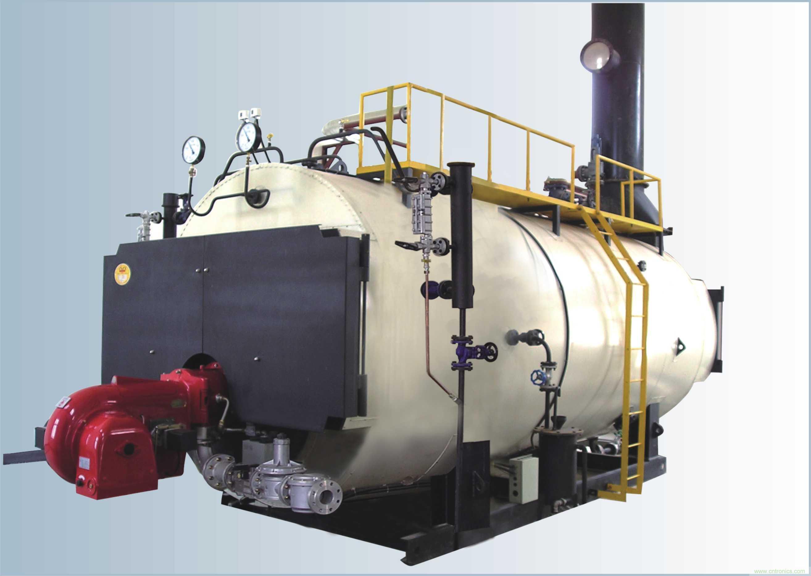 炉体设计 锅炉结构按常压设计,顶部设有通大气孔,锅炉在常压下工作,远离爆炸危险;锅炉炉体采用电脑优化模拟设计,完全优化了锅炉的尺寸,使形态协调美观。CLHS立式锅炉采用燃烧器下置式燃烧方式,燃料在炉胆内微正压燃烧,烟管内插有阻流片,减缓烟气排出速度,加强换热,保证燃料燃烧产生的热量最大程度地加热炉水,大大的提高了锅炉的热效率;CWNS卧式锅炉采用全湿背式三回程结构,烟气流程长,降低排烟温度,全波纹炉胆设置,使火焰产生强烈扰动,强力提高传热系数,并有效防止了因金属热胀冷缩而导致设备寿命的降低;大口径烟管和大