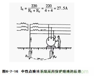 起接地电阻(通常为4~10)要大得多根据分流公式可知
