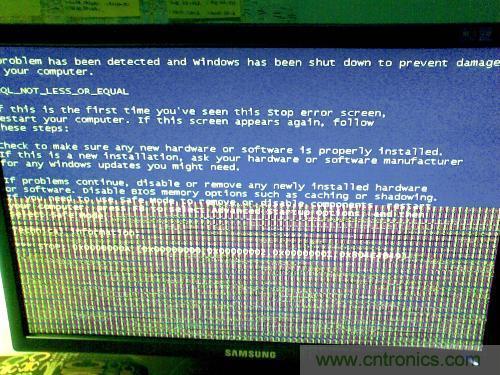 电脑显示器花屏是怎么回事