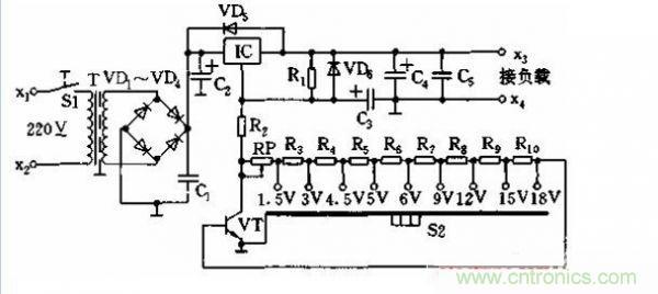 v电源:一款九档可调直流电源电路设计-电源opengl多层绘制图片