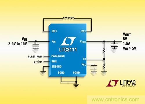 Linear 推出效率高达95%的DC/DC转换器