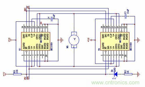 电机过流保护电路图