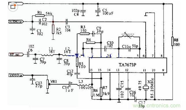 射频调制器电路图
