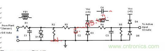 >正文   该电路取自一个工厂的逻辑控制单元(plc)系统,类似电路还可