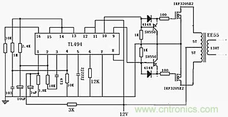 探析由TL494组成的逆变器电路