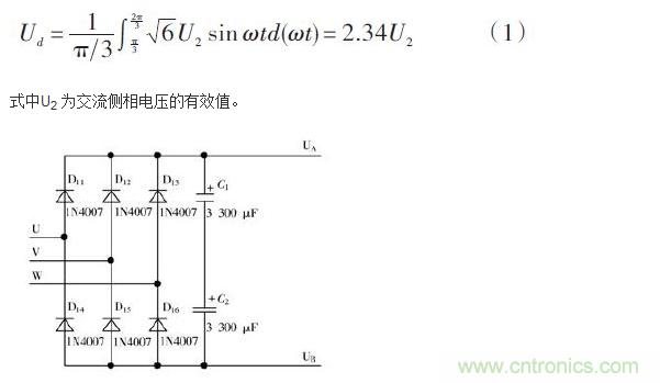 三相桥式全控整流电路的整流管全为可控的晶闸管开关