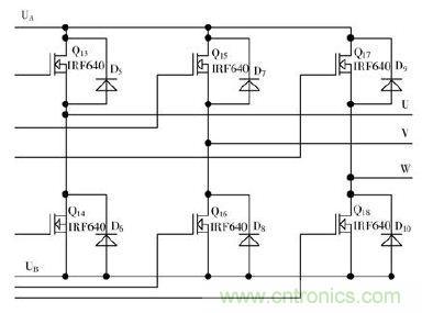 三相桥式逆变电路图