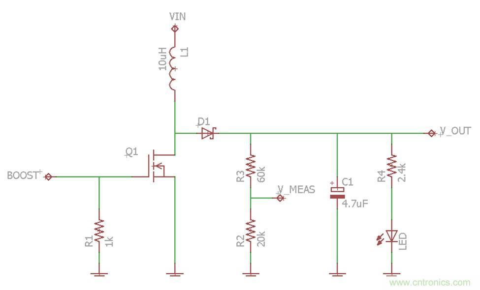 通用8位MCU 基于微控制器(MCU)的嵌入式设计减少物料清单(BOM)成本和尺寸是首要的设计考虑之一。在带有开关转换器的8位MCU设计中实现这些设计目标的途径之一是采用高频时钟输出驱动这些开关转换器,而不是采用传统的低频脉宽调制(PWM)输出。这种技术可以减少开关转换器中电感器容量大小,从而降低BOM成本和电路板空间需求。 背景 开关转换器通常在嵌入式系统中被用于有效提升或者降低电压。这些转换器使用电感器来存储和传递能量到系统中的负载。电感器周期性接通以便把电能转换进电感器的磁场。当电源被关断时,电感器