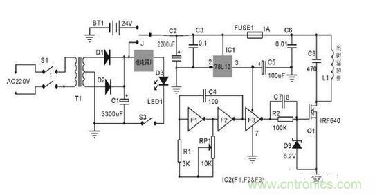 无线电能发送单元电路图