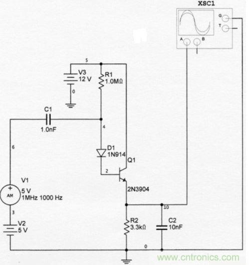超简单设计一个二极管更灵敏的am检波器方法