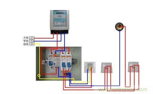 家庭漏电开关和电表接线图