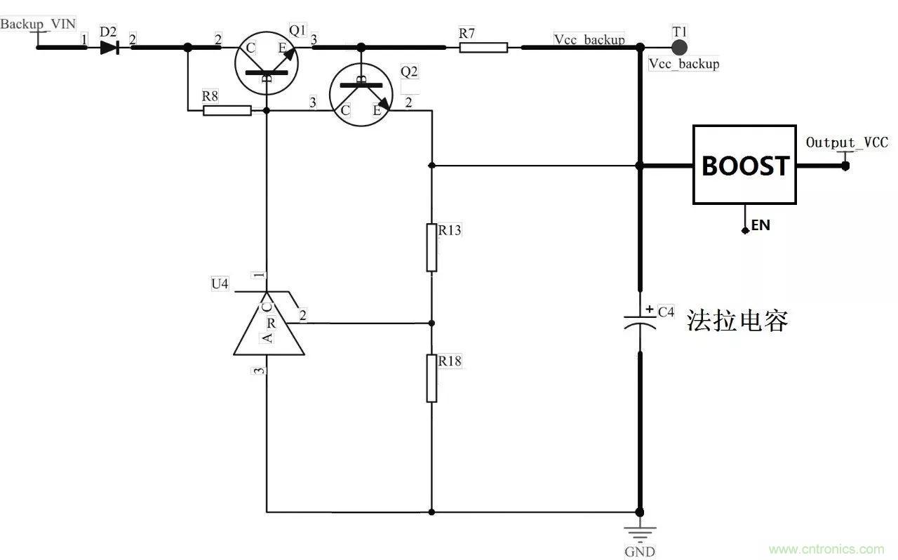 一款基于法拉电容的ups电路设计思路