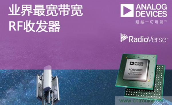 ADI推出业界最宽带宽RF收发器ADRV9009