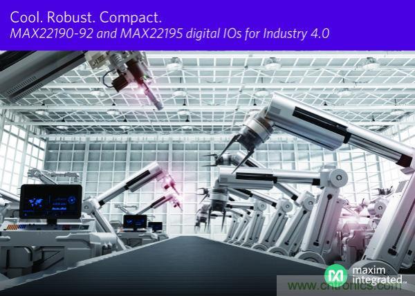 Maxim发布最新数字输入IC,尺寸减小50%、功耗降低60%、速率提高6倍