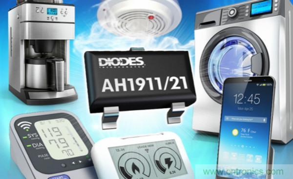 Diodes推出AH1911 和 AH1921 数字霍尔效应传感器