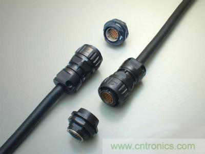 JAE开发了全塑料圆形一触式锁制连接器,低成本且内置冲压部件