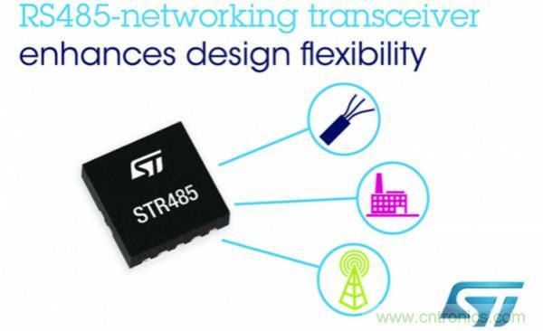 ST推出高度灵活的RS485网络收发器:简化产品设计,节省电路板空间和物料成本