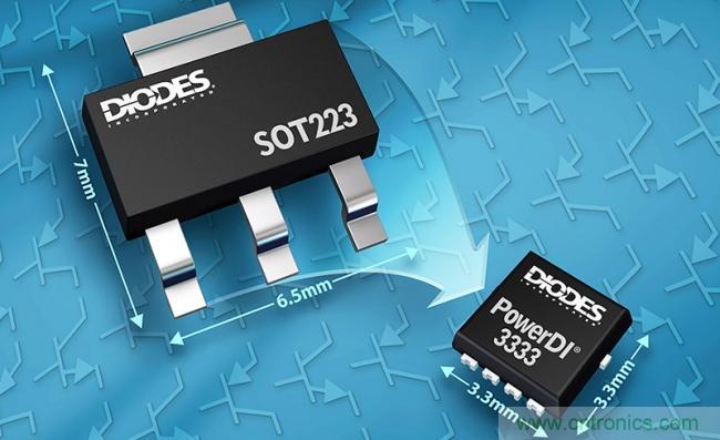 Diodes公司推出双极晶体管,采用小尺寸封装并提供更高的功率密度
