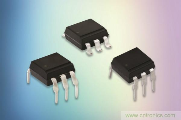 Vishay推出两款全新系列采用紧凑型DIP-6和SMD-6封装的光可控硅输出光耦