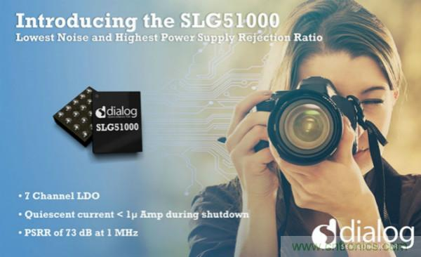 Dialog推出具有最低绝对噪声和最高电源抑制比性能的LDO稳压器