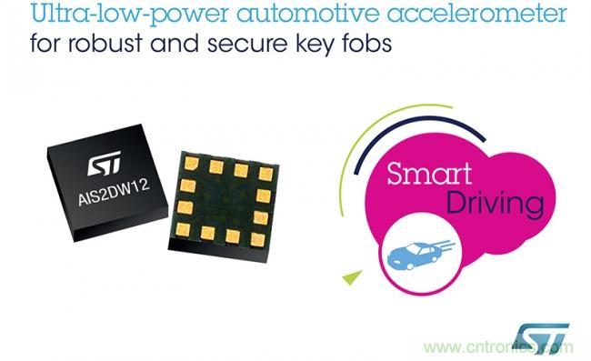 意法半导体推出稳健耐用的低功耗汽车加速度计