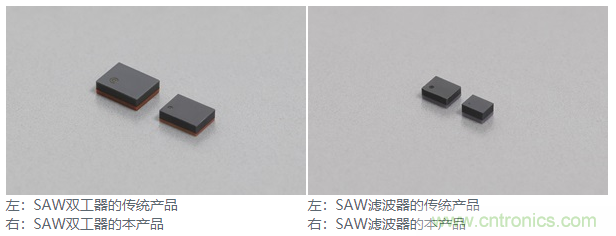 村田开发并开始量产小型SAW双工器、滤波器