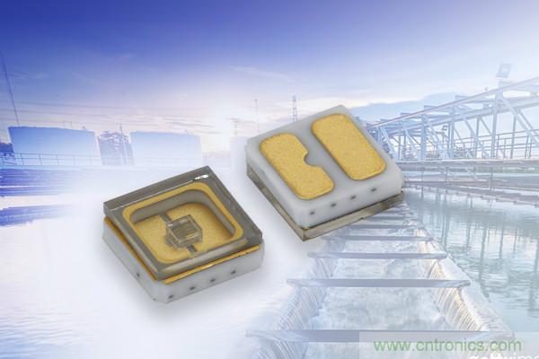 Vishay推出用于消毒和净化等应用的超长寿命小型表面贴UVC发光二极管