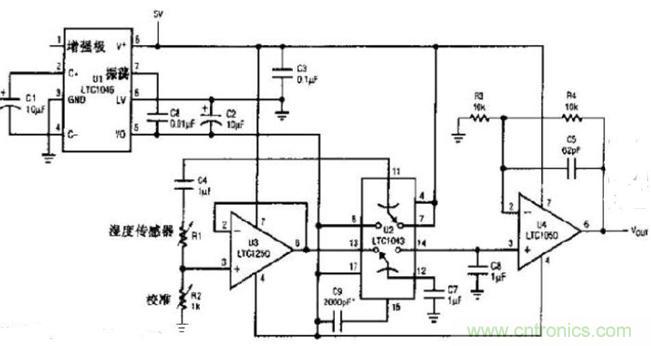 湿度传感器电路图
