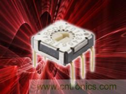 C&K推出其新型 RTF 超薄旋转拨码开关